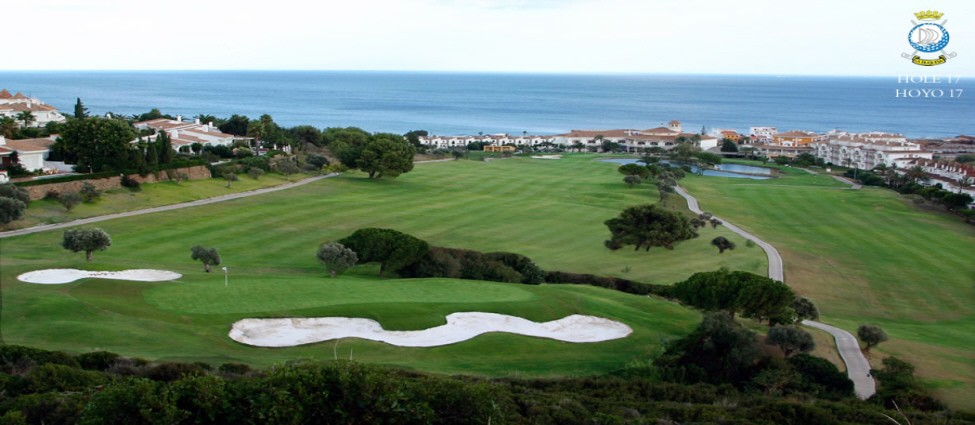 La Duquesa 17th – Sea View to clubhouse and hotel