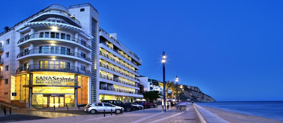 Hotel SANA Sesimbra at Night